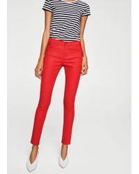 Mango red skinny jeans