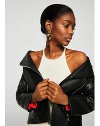 Mango | Zipped Biker Jacket | Lyst