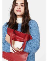 Violeta by Mango Pocket Tote Bag - Red