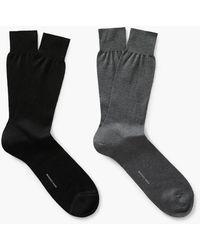 Mango - 2 Pack Plain Socks - Lyst
