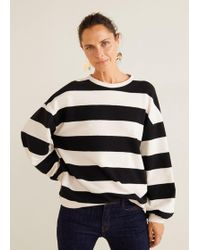 Mango - Striped Cotton-blend Sweatshirt - Lyst