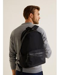 Mango - Technical Fabric Backpack - Lyst