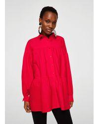 Mango - Oversize Cotton Shirt - Lyst