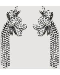 Mango - Rhinestone Pendant Earrings - Lyst