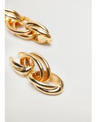 Mango Link Earrings Gold - Metallic