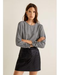 Mango - Ruched Detail Blouse - Lyst