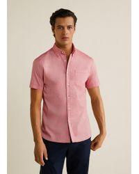 Mango - Regular-fit Cotton Short Sleeve Shirt - Lyst