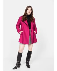 Violeta by Mango Structured Wool Coat - Pink