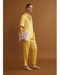 Mango - Beaded Shopper Bag - Lyst