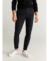 Mango Cotton jogger-style Trousers Navy - Blue