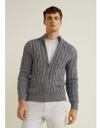 Mango - Knitted Braided Cardigan - Lyst