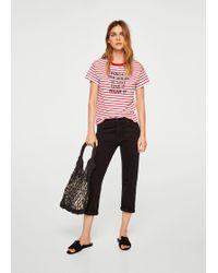Mango - Reversible Sequins T-shirt - Lyst