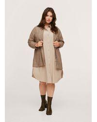 Violeta by Mango Cotton Shirt Dress - Brown