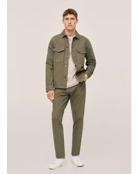 Mango Ben Tapered-fit Jeans, Geverfd - Naturel