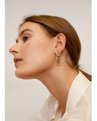Mango Link Earrings Gold - Metallic