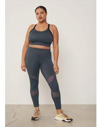 Violeta by Mango Tulled Sporty leggings - Grey