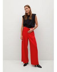 Mango Dart High Waist Trousers - Red