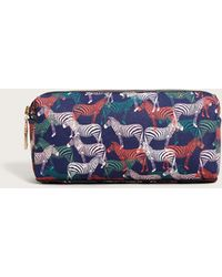 Violeta by Mango - Zebra Print Cosmetic Bag - Lyst