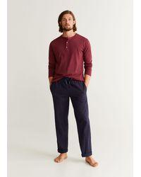 Mango Set Katoenen Pyjama - Meerkleurig