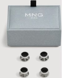 Mango - Pack 4 Button Cufflinks - Lyst
