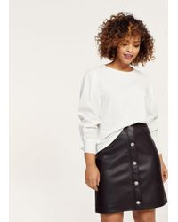 Violeta by Mango | Buttons Faux Leather Skirt | Lyst