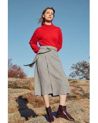 Mansur Gavriel Cashmere Wrap Skirt - Multicolor