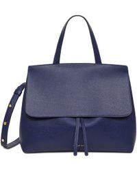 Mansur Gavriel - Saffiano Mini Lady Bag - Blu - Lyst