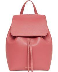 Mansur Gavriel - Saffiano Mini Backpack - Blush - Lyst