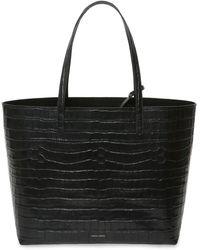 Mansur Gavriel Large Crocodile-embossed Tote Bag - Black