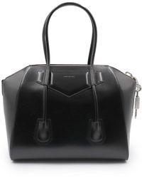 Givenchy - Medium Antigona Side Lock Bag In Box Leather - Lyst