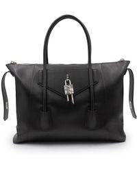 Givenchy - Medium Antigona Lock Bag In Box Leather - Lyst