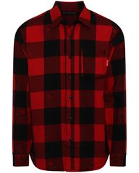 Mastermind Japan Reversible Plaid Shirt In Buffalo - Red