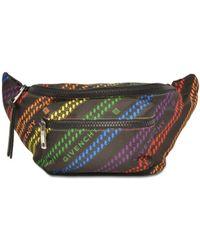 Givenchy Rainbow Chain Bum Bag In Nylon - Multicolour