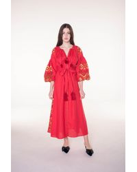 MARCH11 - Kilim Maxi Dress In Red - Lyst