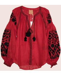 MARCH11 Kilim Blouse In Red