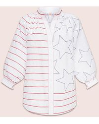 MARCH11 Stars And Stripes Blouse In White