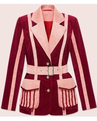 MARCH11 Phoenix Jacket In Burgundy - Red