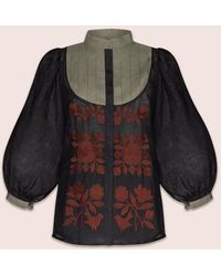MARCH11 Amo Blouse In Black And Green - Multicolor