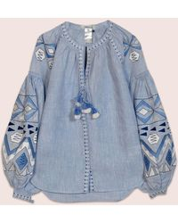 MARCH11 Kilim Blouse In Sky Blue