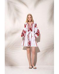 MARCH11 - Flower Pixel Mini Dress In White - Lyst