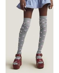 Marc Jacobs - Heart Intarsia Thigh-high Tights - Lyst