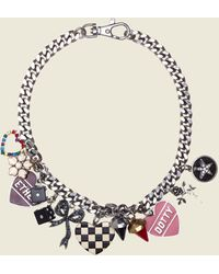 Marc Jacobs - Heart Charms Statement Necklace - Lyst