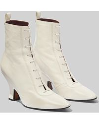 Marc Jacobs The Victorian Leather Ankle Boots - White