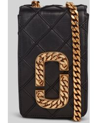 Marc Jacobs The Quilted Hot Shot - Black