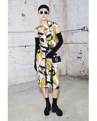 Marc Jacobs - Printed Cowl Neck Dress - Lyst