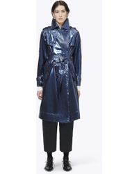 Marc Jacobs - Belted Metallic Vinyl Trench Coat - Lyst