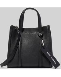 Marc Jacobs The Tag Leather Tote Bag - Black