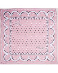Marc Jacobs The Icing Silk Square Scarf - Pink