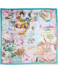 Marc Jacobs The Cake Collage Silk Square Scarf - Multicolor