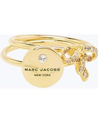 Marc Jacobs - Mj Coin Bow Charm Ring - Lyst